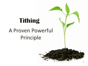 Tithing-Principle